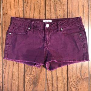 Aeropostale Deep Purple Jean Shorts